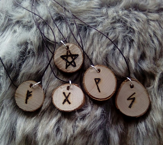 Witches runes necklaces.