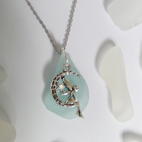 Fairy necklace. Sea glass necklace