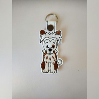 Chinese crested keyring