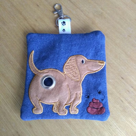 Dachshund Dog poop bag dispenser -  dachshund gifts