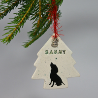 Personalized Dog Christmas ornament gift boxed Custom made Christmas ornament