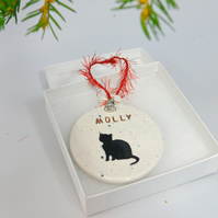 Personalized Cat Christmas ornament gift boxed Custom made Christmas ornament