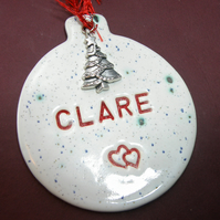 Custom made Christmas ornament Personalized Christmas ornament gift boxed