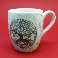 Tree of life handmade coffee mug  Tea mug Food safe Lead free glaze