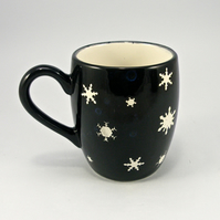 snowflake coffee mug handmade Tea mug coffee mug