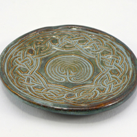 Celtic Ring Dish Spoon rest Stoneware foodsafe & lead free glaze