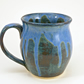 21 oz beer mug tea mug food safe and lead free made of Stoneware dripping design