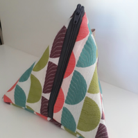 Funky fabric make up bag