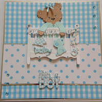Its a boy new baby card