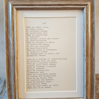 Framed poem 'You'