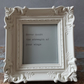 'Wings' quote in mini, baroque frame