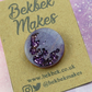 Purple Glittery Moon Pin Badge