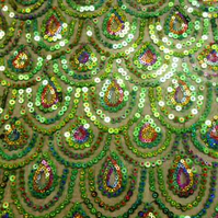 Peacock Sequin Table Runner
