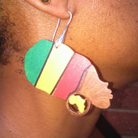 Nubia Queen Wood Earrings