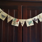 Bird Bunting, Diary Of An Edwardian Lady, Recycled Garland, Paper Banner