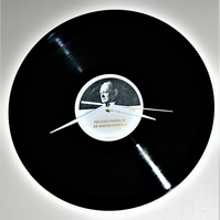 Winston Churchill Vinyl Record Clock
