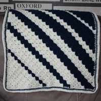 Navy and Cream Baby Blanket