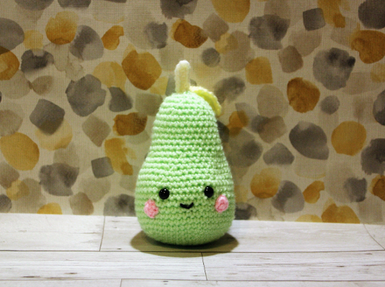 Green Crochet Pear Soft Toy