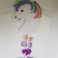 Unicorn hair bow holder storage