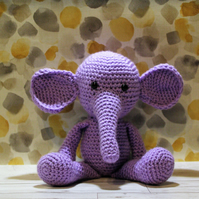 Crochet Purple Elephant Soft Toy