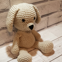 Crochet dog soft toy