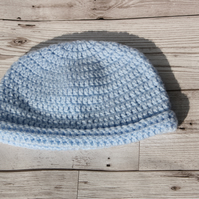 Blue 0-3 months crochet hat