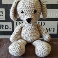 Dog crochet soft toy
