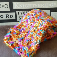 Multi Coloured Crochet Scarf