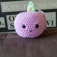 Purple apple soft toy