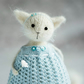 Knitted Cat art doll