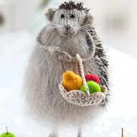 Hedgehog with a fruit basket
