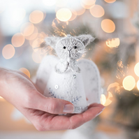 Christmas Cat Angel ornament
