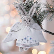 Christmas Rabbit Angel ornament