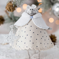 Christmas Mouse Art doll