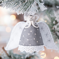 Christmas Mouse Angel ornament