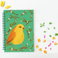 Spiral Notebook, Bird Illustration, A5 Notebook, British Birds, Notepad, Journal