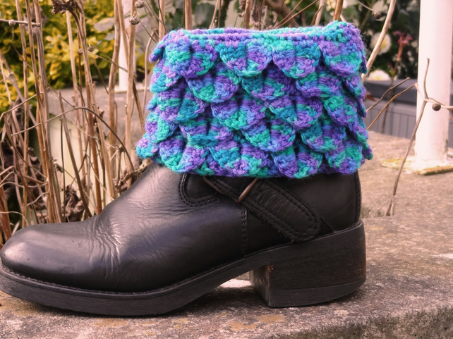 Boot toppers - Dragon Scales dark colours  (BT04)