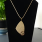 Necklace - Bronze Holographic Crazy Pave Pendent  (N004)