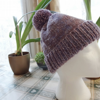 Bobble Hat in a Grey Violet  (H002)