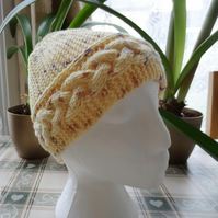 Cable Hat in Yellow  (H004)