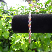 Double Spiral Chainmaille Bracelet (B059)