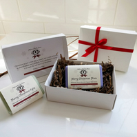 Personalised Christmas Soap in a gift box
