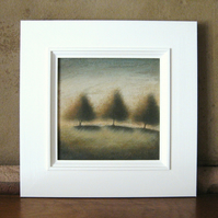 Autumn Trees - Framed Original Acrylic Landscape Tree Painting