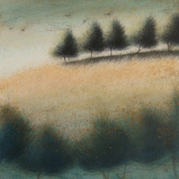 Late Summer Evening - Unframed Original Acrylic Landscape Painting,Free Shipping