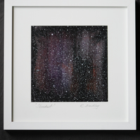"Framed Mixed Media On Paper ""Stardust"""