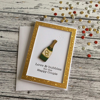 Love & Bubbles Wedding Card