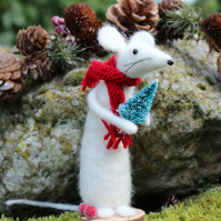Christmas Mabel Mouse Felting Kit