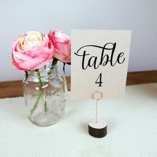 Rustic Wooden Table Number Name Holders for Weddings Events & Parties - 9cm