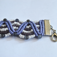 Macrame Purple Wave Bracelet