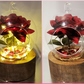 Handmade Enchanted Rose Inspired Lamp Light Valentine's Day Gift Wedding Decor